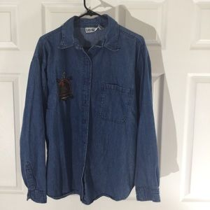 Las Olas turtle denim shirt